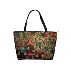 Art Traditional Flower  Batik Pattern Shoulder Handbags by BangZart