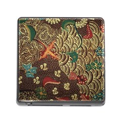 Art Traditional Flower  Batik Pattern Memory Card Reader (square)