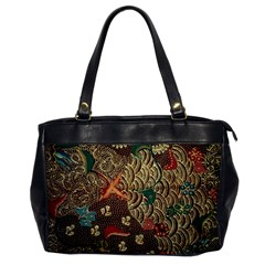 Art Traditional Flower  Batik Pattern Office Handbags by BangZart