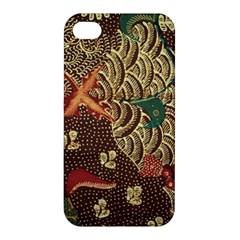 Art Traditional Flower  Batik Pattern Apple Iphone 4/4s Hardshell Case by BangZart