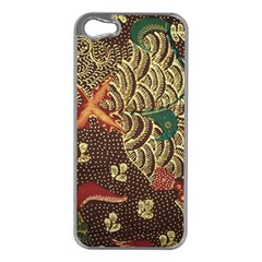 Art Traditional Flower  Batik Pattern Apple Iphone 5 Case (silver) by BangZart
