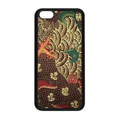 Art Traditional Flower  Batik Pattern Apple Iphone 5c Seamless Case (black) by BangZart