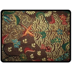 Art Traditional Flower  Batik Pattern Double Sided Fleece Blanket (large)  by BangZart
