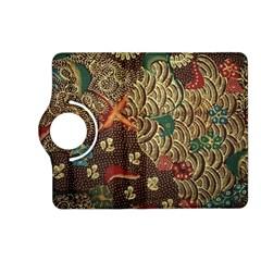 Art Traditional Flower  Batik Pattern Kindle Fire Hd (2013) Flip 360 Case by BangZart