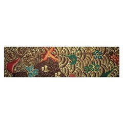 Art Traditional Flower  Batik Pattern Satin Scarf (oblong)