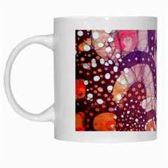 Colorful Art Traditional Batik Pattern White Mugs by BangZart