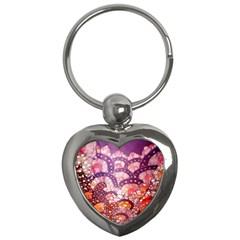 Colorful Art Traditional Batik Pattern Key Chains (heart)  by BangZart