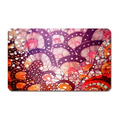 Colorful Art Traditional Batik Pattern Magnet (rectangular)