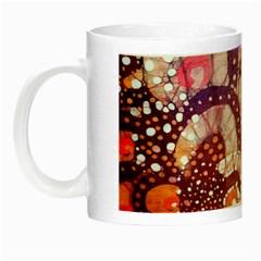 Colorful Art Traditional Batik Pattern Night Luminous Mugs by BangZart