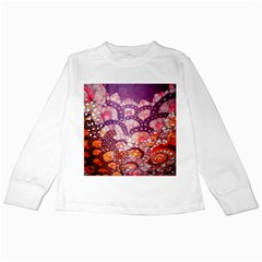 Colorful Art Traditional Batik Pattern Kids Long Sleeve T Shirts