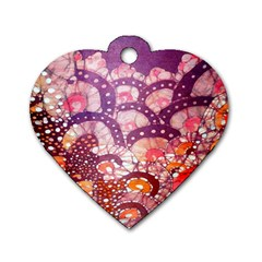 Colorful Art Traditional Batik Pattern Dog Tag Heart (two Sides) by BangZart
