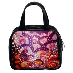 Colorful Art Traditional Batik Pattern Classic Handbags (2 Sides)