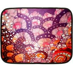 Colorful Art Traditional Batik Pattern Double Sided Fleece Blanket (mini)