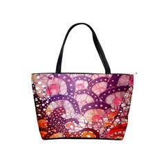 Colorful Art Traditional Batik Pattern Shoulder Handbags by BangZart