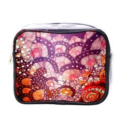 Colorful Art Traditional Batik Pattern Mini Toiletries Bags by BangZart