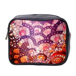 Colorful Art Traditional Batik Pattern Mini Toiletries Bag 2-Side Front