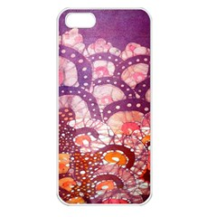 Colorful Art Traditional Batik Pattern Apple Iphone 5 Seamless Case (white)