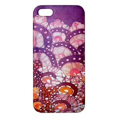 Colorful Art Traditional Batik Pattern Apple Iphone 5 Premium Hardshell Case