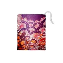 Colorful Art Traditional Batik Pattern Drawstring Pouches (small)  by BangZart