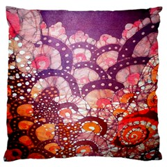Colorful Art Traditional Batik Pattern Standard Flano Cushion Case (two Sides)