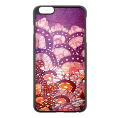 Colorful Art Traditional Batik Pattern Apple Iphone 6 Plus/6s Plus Black Enamel Case by BangZart