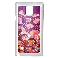 Colorful Art Traditional Batik Pattern Samsung Galaxy Note 4 Case (white) by BangZart
