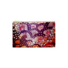 Colorful Art Traditional Batik Pattern Cosmetic Bag (xs)