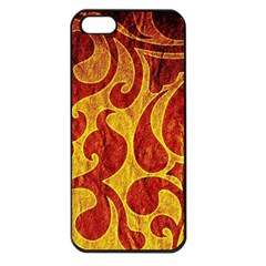 Abstract Pattern Apple Iphone 5 Seamless Case (black)