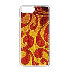 Abstract Pattern Apple Iphone 7 Plus White Seamless Case by BangZart
