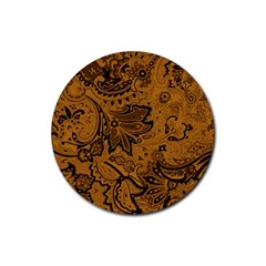 Art Traditional Batik Flower Pattern Rubber Coaster (round)