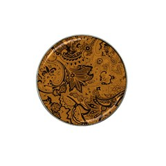 Art Traditional Batik Flower Pattern Hat Clip Ball Marker (10 Pack)