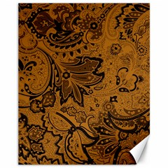 Art Traditional Batik Flower Pattern Canvas 11  X 14