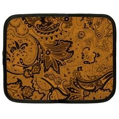 Art Traditional Batik Flower Pattern Netbook Case (xxl)  by BangZart