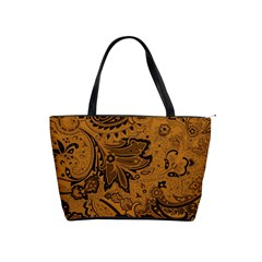 Art Traditional Batik Flower Pattern Shoulder Handbags by BangZart