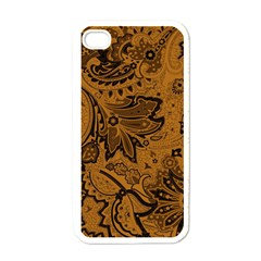 Art Traditional Batik Flower Pattern Apple Iphone 4 Case (white) by BangZart