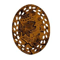 Art Traditional Batik Flower Pattern Ornament (oval Filigree) by BangZart