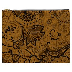 Art Traditional Batik Flower Pattern Cosmetic Bag (xxxl)