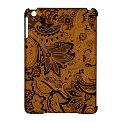 Art Traditional Batik Flower Pattern Apple Ipad Mini Hardshell Case (compatible With Smart Cover)