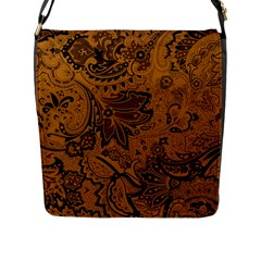 Art Traditional Batik Flower Pattern Flap Messenger Bag (l)  by BangZart