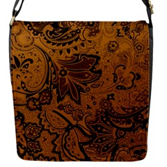 Art Traditional Batik Flower Pattern Flap Messenger Bag (s)