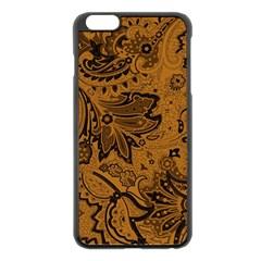 Art Traditional Batik Flower Pattern Apple Iphone 6 Plus/6s Plus Black Enamel Case