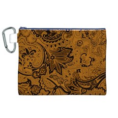 Art Traditional Batik Flower Pattern Canvas Cosmetic Bag (xl) by BangZart