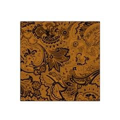 Art Traditional Batik Flower Pattern Satin Bandana Scarf