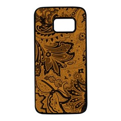 Art Traditional Batik Flower Pattern Samsung Galaxy S7 Black Seamless Case