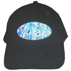 Art Batik Flowers Pattern Black Cap