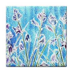 Art Batik Flowers Pattern Tile Coasters