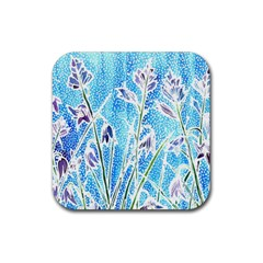 Art Batik Flowers Pattern Rubber Square Coaster (4 Pack)  by BangZart