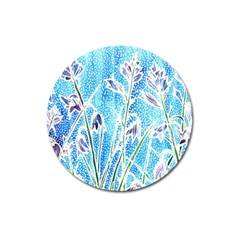 Art Batik Flowers Pattern Magnet 3  (round) by BangZart