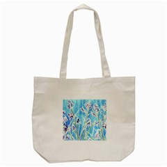 Art Batik Flowers Pattern Tote Bag (cream) by BangZart