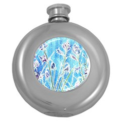 Art Batik Flowers Pattern Round Hip Flask (5 Oz) by BangZart